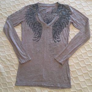 Affliction Burnout Long Sleeve T-Shirt